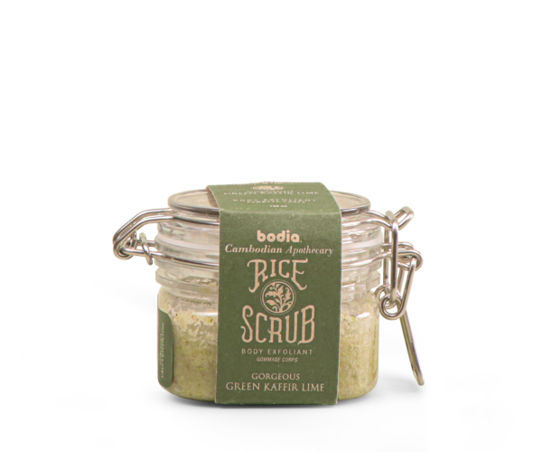 Rice Scrub - Gorgeous Green Kaffir Lime